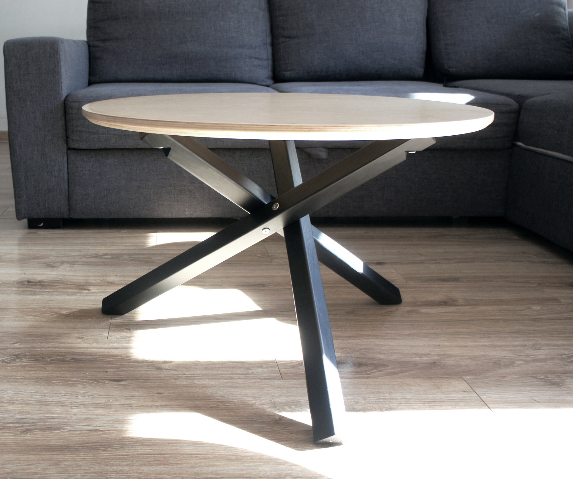 stolik okrągły kawowy STK-TRIPLE loft