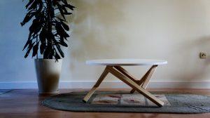 Minimalistyczny stolik kawowy HEXFLAME, VERYSIMPL